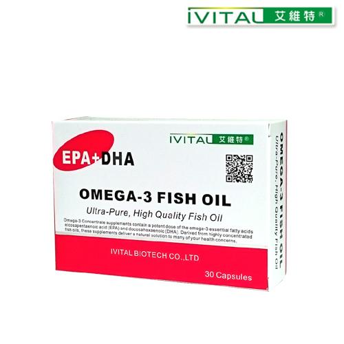 IVITAL艾維特®分子蒸餾高濃縮魚油軟膠囊(30粒)