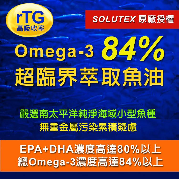 IVITAL艾維特®80%濃縮rTG魚油軟膠囊(
